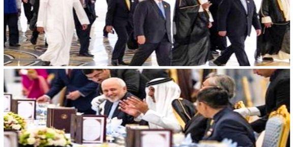 ظریف در ضیافت شام امیر قطر شرکت کرد