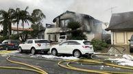 سقوط یک هواپیما شخصی بر سقف یک خانه مسکونی