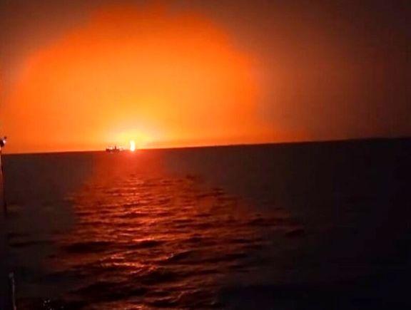 فوران آتش فشان در دریای خزر