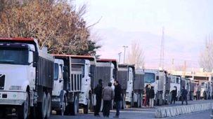 کامیونداران اصفهان اعتصاب کردند