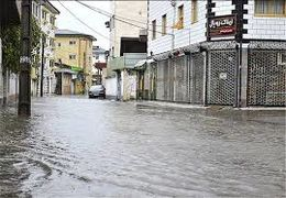 آبگرفتگی در شهرستان آزادشهر گلستان به علت بارش شدید باران