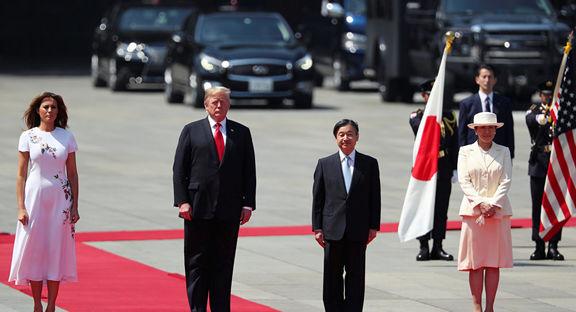 دیدار ترامپ با امپراتور جدید ژاپن+ عکس