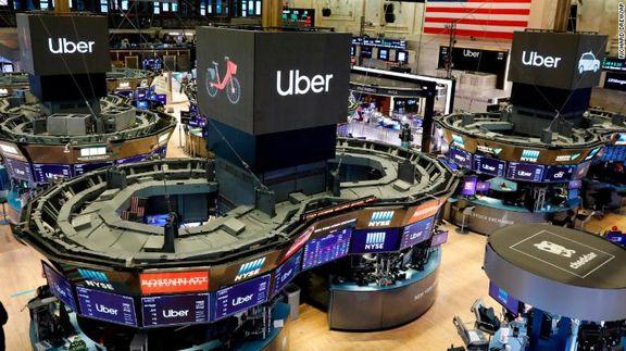 سهام شرکت «اوبر» در اولین روز معاملاتی خود 7 درصد سقوط کرد