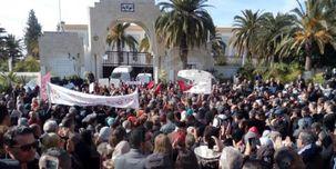 تظاهرات تونسیها در اعتراض به حضور گردشگران صهیونیست