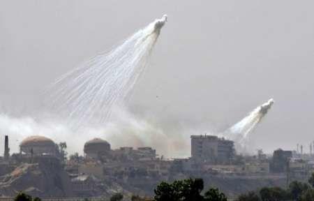 آمریکا بوسیله دو جنگنده دیرالزور سوریه را بمباران فسفری کرد