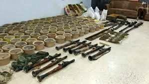 کشف مقادیر زیادی اسلحه و مهمات در سوریه