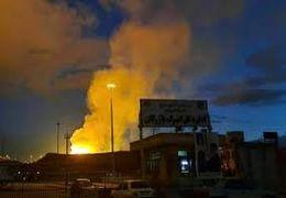 اولین ویدیو از انفجار در خط صادرات گاز ایران به ترکیه در شهر مرزی ماکو بازرگان + فیلم