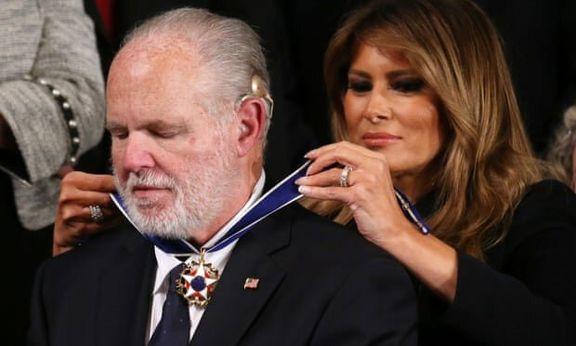 مدال آزادی آمریکا به مجری محبوب رادیویی داده شد