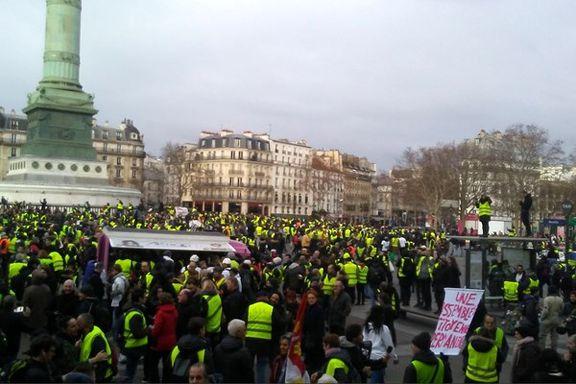 هفته نهم اعتراضات جلیقه زردها در فرانسه + تصاویر