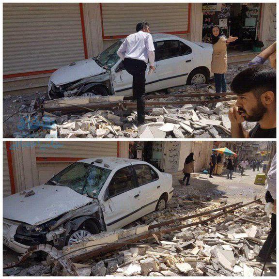 فیلم گرفتن یک شهروند  از لحظه زلزله در خوزستان