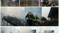 آتش سوزی در خانه ویلایی