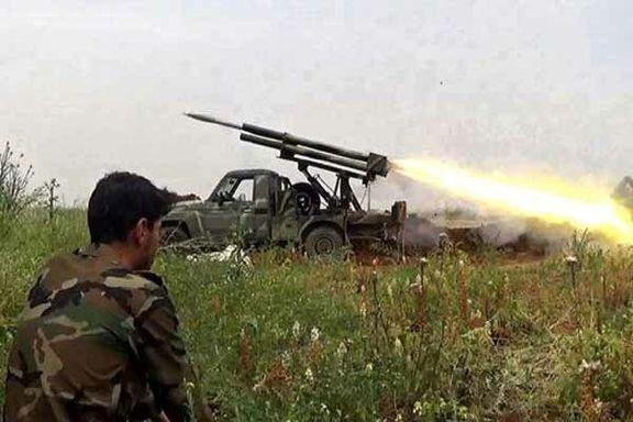 تروریستهای ادلب مورد حمله موشک های سوری قرار گرفتند
