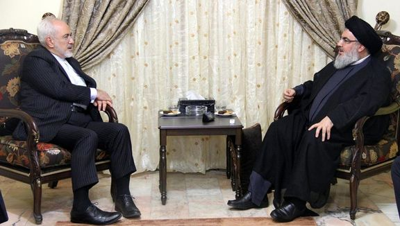 ظریف با سید حسن نصرالله دیدار و گفتگو کرد