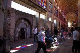 سقف بازار آهنگران تهران بسیار خطرناک شده است /  هشدار ریزش سقف بازار آهنگران