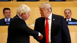 ترامپ و بوریس جانسون درباره روابط تجاری دو کشور مذاکره  کردند