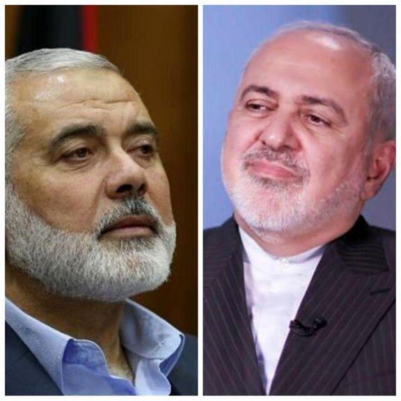 ظریف با رئیس دفتر سیاسی حماس گفتگو تلفنی کرد