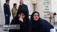 تصاویری از اشک های پسر شهید  سردار سلیمانی