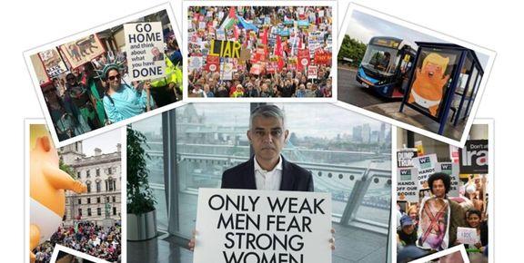 سفر پرحاشیه ترامپ به  انگلیس  به روایت تصویر