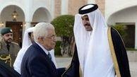 دیدار محمود عباس با با امیر قطر درمورد حملات اسرائیل به فلسطین