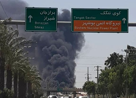 تصاویری از آتشسوزی در کارخانه لنجسازی تنگک بوشهر