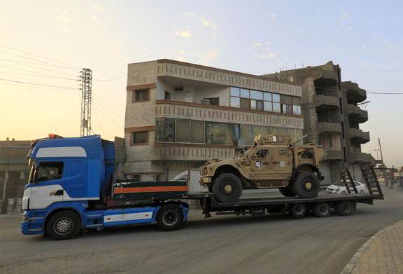 ارسال کامیون محمولههای لجستیکی آمریکا برای کردهای سوریه