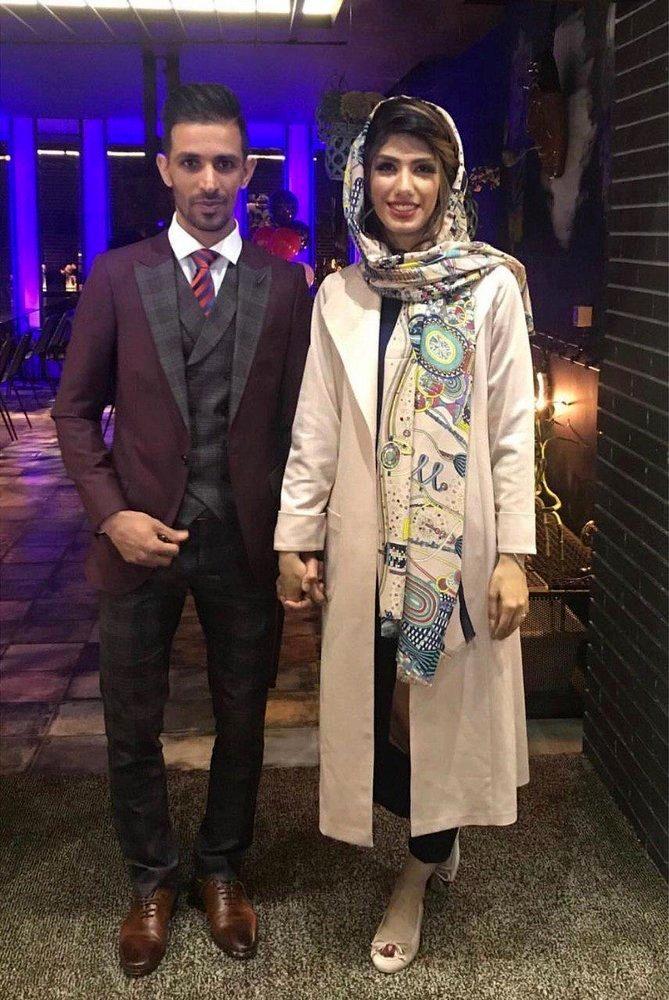 کاپیتان های دو تیم بانوان و مردان سپاهان اصفهان باهم ازدواج کردند