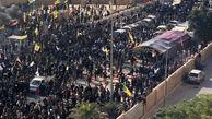 در و دیوارهای سفارت آمریکا در عراق به آتش کشیده شد + فیلم