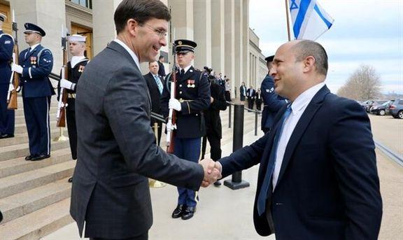 دیدار دو وزیر دفاع و جنگ آمریکا و اسرائیل با یکدیگر و گفتگو درباره ایران