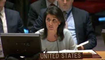 هیلی به گزافهگویی علیه ایران، روسیه و سوریه پرداخت
