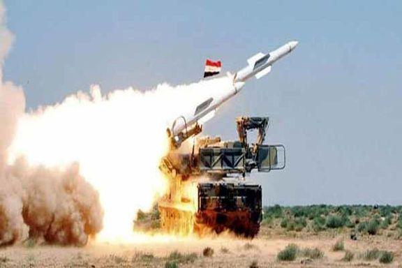 پدافند هوایی سوریه اهداف متجاوز در منطقه الکسوه را ساقط کرد