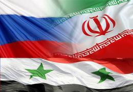 برافراشتن سه پرچم سوریه، ایران و روسیه در سوریه