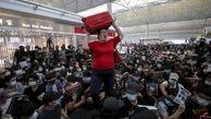فعالیت فرودگاه هنگ کنگ به حمله تظاهرکنندگان مختل شد