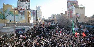 وداع بهتآور و میلیونی مردم کرمان با سردار سلیمانی+فیلم