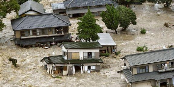 وقوع سیلاب و رانش زمین در ژاپن 1.24 میلیون نفر را مجبور به ترک خانه هایشان کرد