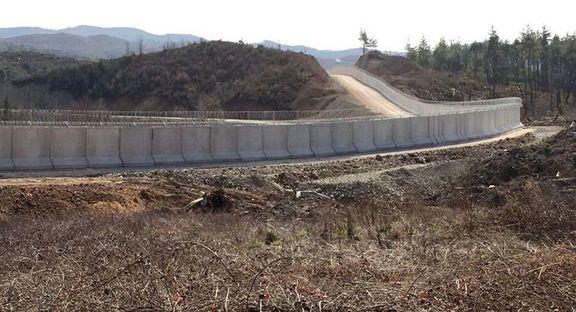 ساخت دیوار مرزی ترکیه در مرز ایران به پایان رسید
