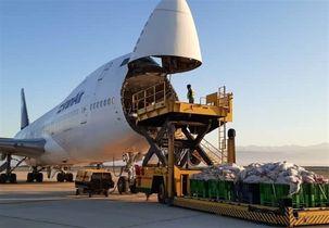 انتقال محموله  92 تنی گوشت گرم توسط هواپیمایی بوئینگ 747 از قزاقستان