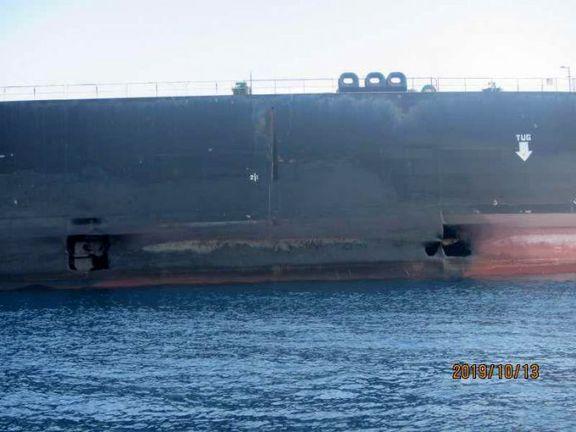 نفتکش ایرانی که هدف حملهی موشکی قرار گرفت وارد آبهای ایران شد+ عکس