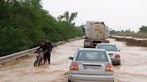 جاده اهواز آبادان هم به زیر آب رفت + فیلم