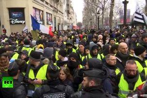 جلیقه زردها دوباره به خیابان ریختند / حضور گسترده نیروهای پلیس در خیابان