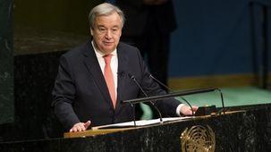 انتشار کلیات سخنرانی گوترش در افتتاحیه مجمع سازمان ملل