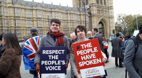 تظاهرات هواداران برکسیت  در شهرهای مختلف انگلیس