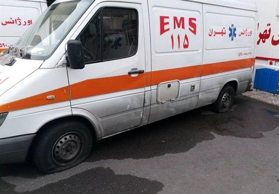 ماجرای مرگ یک شهروند تهرانی بخاطر پنچر شدن آمبولانس اورژانس چیست؟ + فیلم