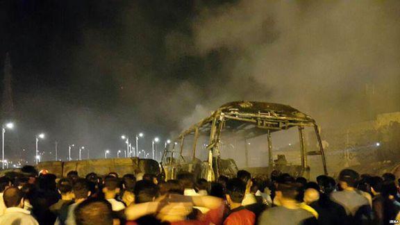 تصادف تانکر سوخت با اتوبوس مسافربری سنندج - تهران/ روایت یک شاهد عینی از این حادثه
