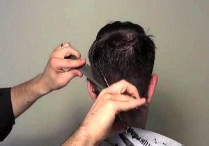 حرکت عجیب آرایشگر سیرجانی برای مبتلا نشدن به کرونا+ فیلم