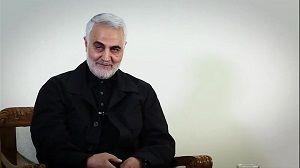 تصویری از سنگ مزار شهید سردار سلیمانی