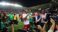 حضور جیمی جامپ در فینال جام حذفی پرسپولیس-داماش گیلان + فیلم