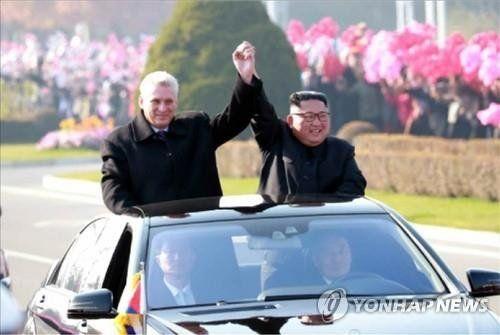 دیدار رئیس جمهور کوبا با رهبر کره شمالی در بحبوحه توقف مذاکرات کره شمالی با آمریکا