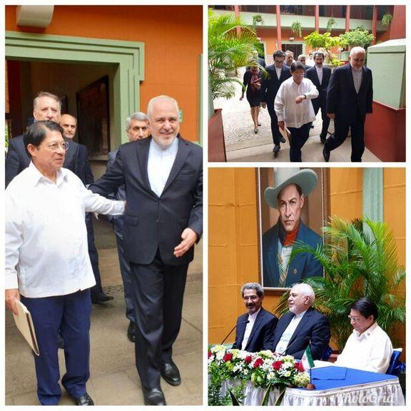 ظریف و وزیر خارجه نیکاراگوا دیدار و گفتگو کردند
