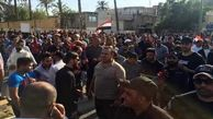 تجمع هزاران عراقی در برابر سفارت بحرین در بغداد