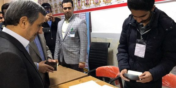 احمدی نژاد در انتخابات مجلس شرکت کرد
